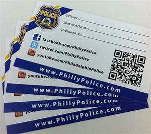 Philly police business cards list twitter accounts city for Business cards philadelphia