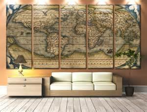 Large World Map Canvas Wall Art