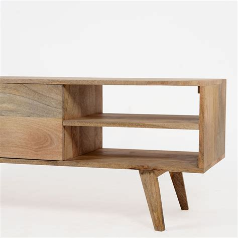 canape d occasion meuble tv scandinave bois massif laqué made in meubles