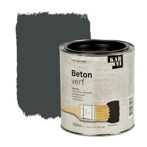 karwei sikkens karwei betonverf zijdeglans antraciet 750 ml betonverf