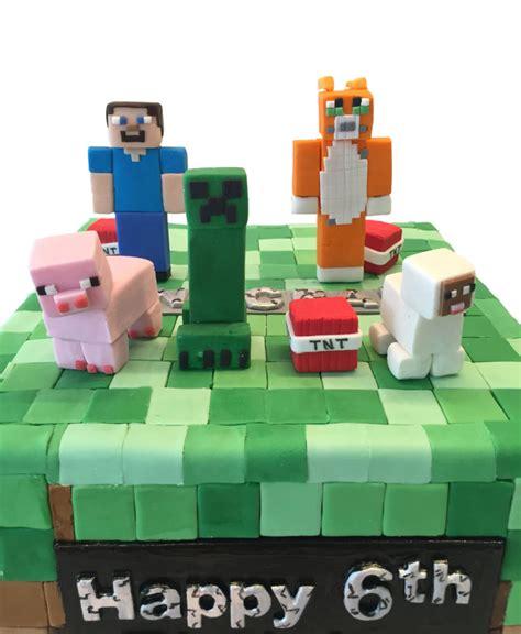 minecraftbirthdaycaketoppersnycustomcakes maddies cakes