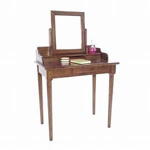Coiffeuse Pour Chambre : coiffeuse avec miroir en bois personnalisable princesse ~ Teatrodelosmanantiales.com Idées de Décoration