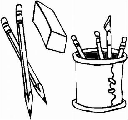 Pencil Coloring Pages Pen Holder Box Clipart