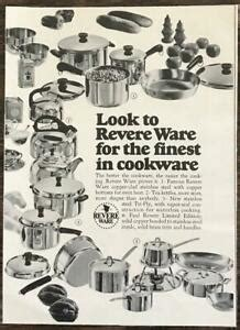 revere ware stainless steel copper cookware print ad ebay