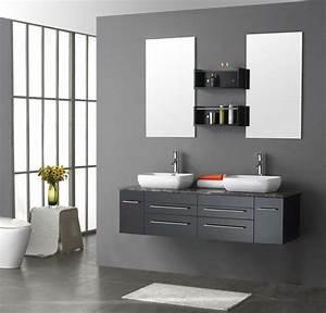 meuble salle de bain faible profondeur conseils pratiques With meuble deux vasques