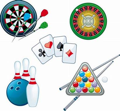 Indoor Recreation Vector Games Playing Cards Darts
