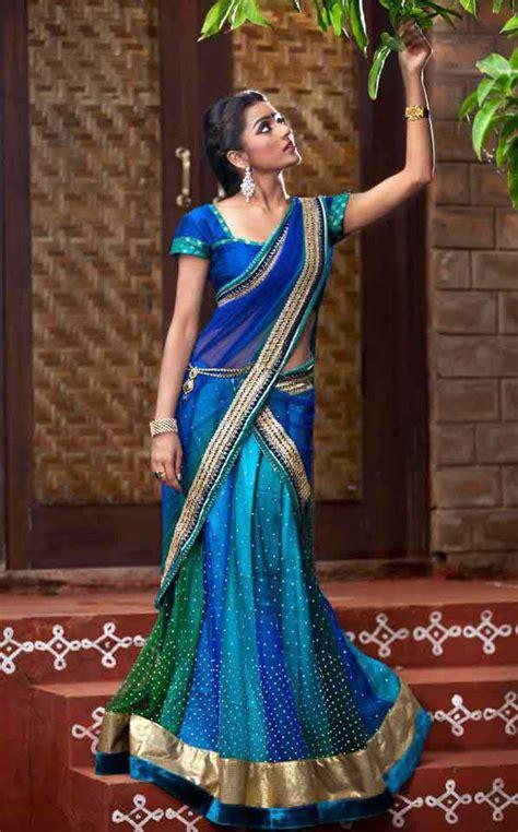 half sarees by bhargavi sarees villa