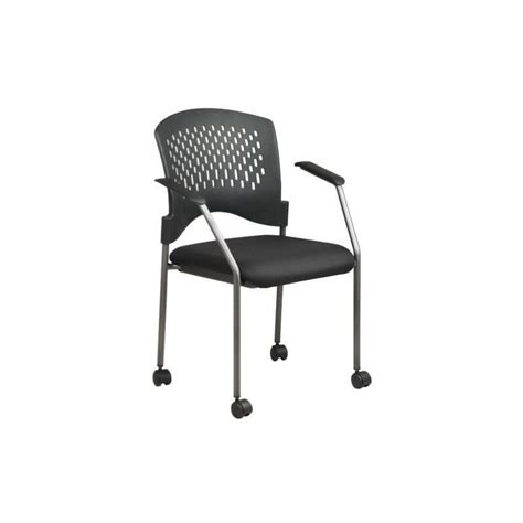 rolling guest chair with casters and arms 8640 30