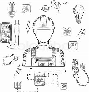 electrician man in hard hat with electrical household With com amprobeelectricalcircuittracer electricaltools