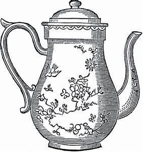 Free Vintage Teapot Clip Art - The Graphics Fairy