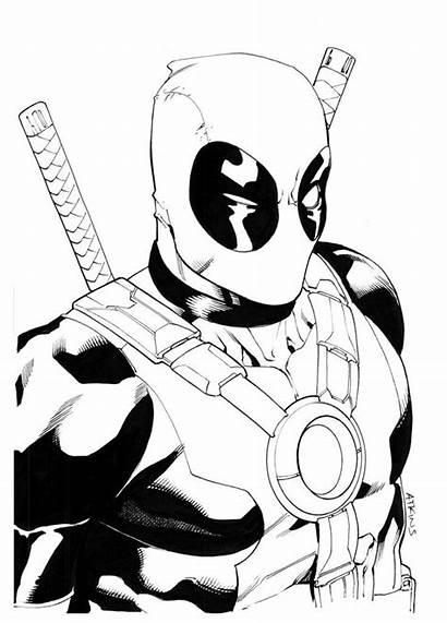 Coloring Pages Marvel Printable Superhero Deadpool Super