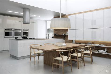 grande table de cuisine table a manger grande cuisine sur le salon ideeco