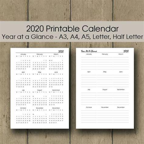 calendar printable  filofax planner insert