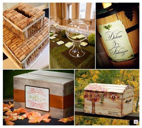 tonneau de vin decoration mariage automne urne caisse tonneau bocal bouchon liege tirelire wedding ideas