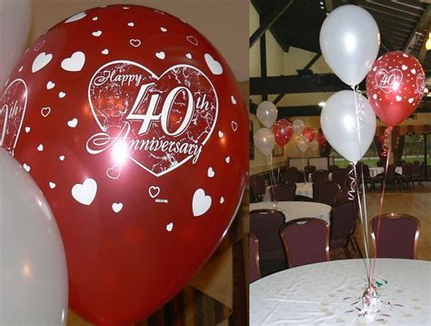 40th Anniversary Decorations - ruby 40th wedding anniversary balloons 10 table