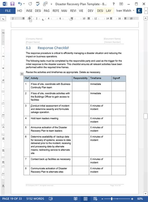 disaster recovery planning checklist the history of