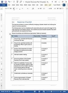 disaster recovery plan template ms wordexcel With disaster recovery plan checklist template