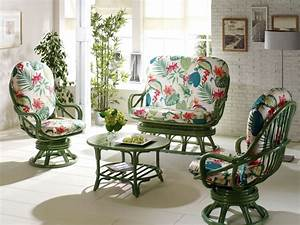 Emejing salon de jardin rotin vert photos awesome for Fauteuil jardin rotin