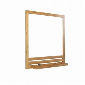 Bambou Artificiel Leroy Merlin : miroir avec tablette bambou l 53 0 cm natural leroy merlin ~ Dailycaller-alerts.com Idées de Décoration