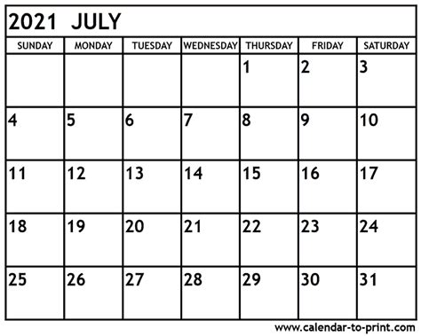41+ Printable Monthly Calendar 2021  Images