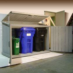 include space   trash canrecycling   wood shed