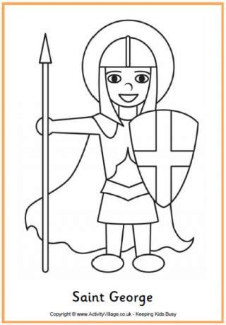 george 918 | saint george colouring page 460