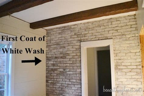 Mortar Mix For Fireplace by Whitewash Brick Fireplace Before And After Joy Studio