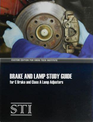 brake and light inspection brake l adjusters test preparation book