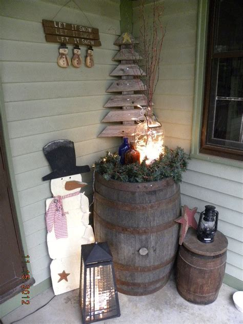 Cute Rustic Tree Made From Wooden Boards Pretty Love