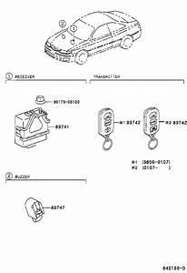 2002 Toyota Solara Receiver  Door Control  Electrical