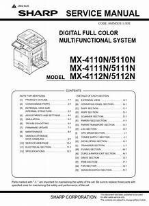 Sharp Mx 4112n 5112n Copier  Printer Original Service