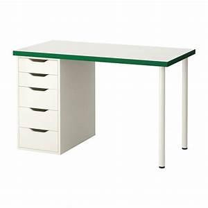 Ikea Schreibtisch Alex : linnmon alex table blanc vert blanc ikea ~ Orissabook.com Haus und Dekorationen