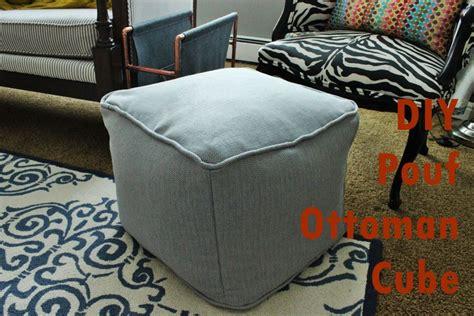How To Make A Square Pouf Ottoman by Diy Pouf Ottoman Cube