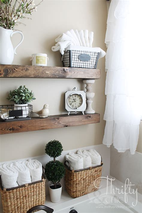 Home Decor Ideas Bathroom by Diy Floating Shelves And Bathroom Update Decorating