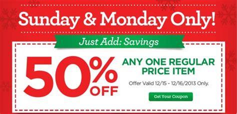 michaels coupon   regular price item ftm