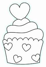 Coloring Clipart Wallet Transparent Heart Cupcake Webstockreview Templates sketch template
