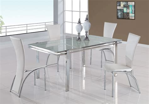 glass table  chairs set cracked glass dining room
