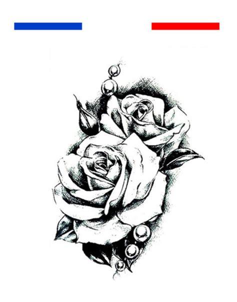 tatouage rose noir  blanc homme femme mon petit