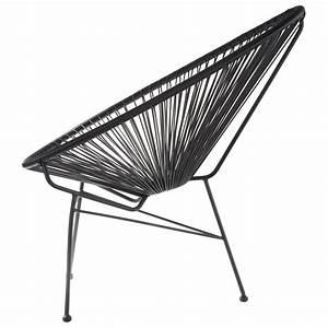 Fauteuil Fil Plastique : fauteuil acapulco noire la chaise longue ~ Edinachiropracticcenter.com Idées de Décoration