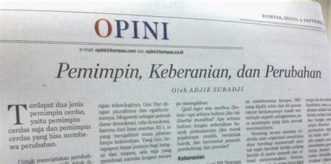 contoh artikel opini  koran contoh