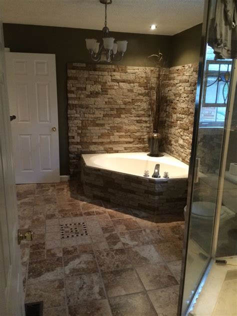 surrounded  garden tub  airstone turned  great