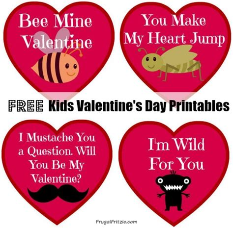 valentines day card kids free printable 39 s cards archives frugal fritzie
