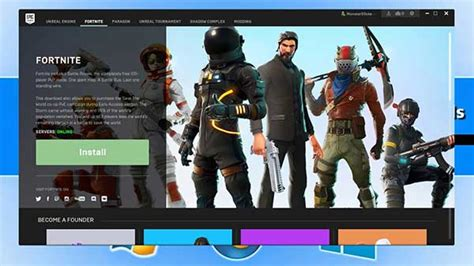 install fortnite  windows  pc