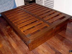 Diy queen bed frame with storage plans Plans DIY How to