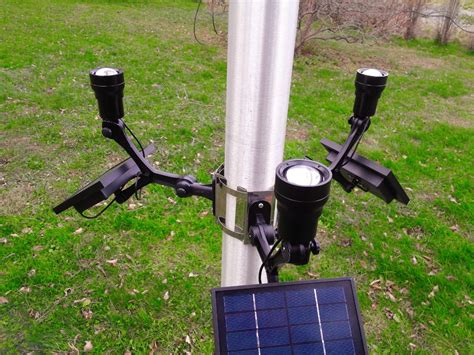 commercial solar flagpole light cree product details