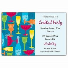 Cocktail Party Invitation Wording Paperstyle