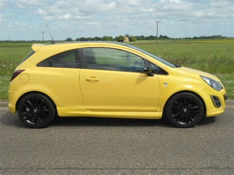 vauxhall yellow used yellow vauxhall corsa for sale cambridgeshire