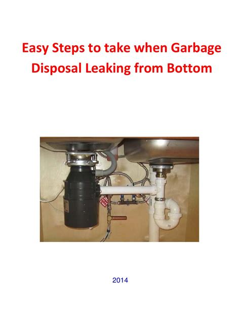 how to fix leaking garbage disposal garbage disposal leaking from bottom simple easy steps to take by diy home issuu