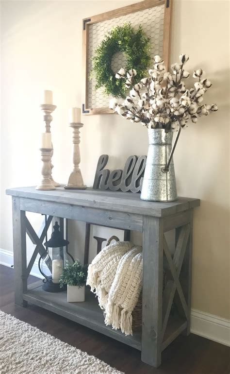 modified ana whites rustic  console table  wide