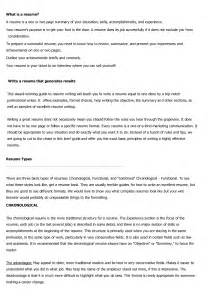 types of resumes exles exles of current resume formats